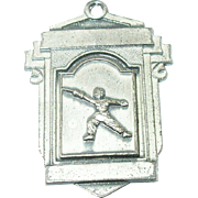 Vintage Sterling Silver Fencing Medal