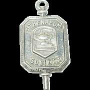 Vintage Sterling Silver Athenaeum Society Medal
