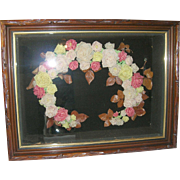 Antique Shadow Box Mourning Wreath