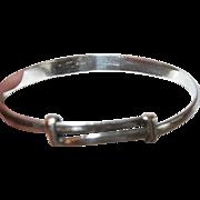 Vintage Bracelet Sterling Hook Catch