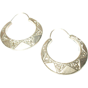 Vintage Earrings Gold Fill Chase Design