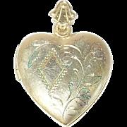 Vintage Gold Filled Locket Pendant