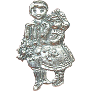 Vintage Brooch Sterling Boy/Girl Hallmarked