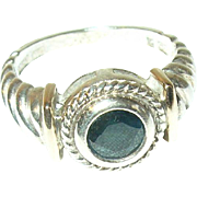 Vintage Ring Sterling 14K Sapphire