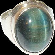 Vintage Ring Sterling Modernist Design English