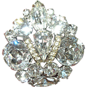 Vintage Brooch Eisenberg Ice Crown Design
