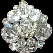 Vintage Brooch Eisenberg Ice Crown Design