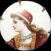 "Vintage Brooch Miniature Portrait ""1870"""
