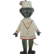 Vintage African American Memorabilia Carved Boy