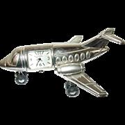 Vintage Clock Timex Airplane