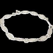 Vintage Sterling Link Bracelet Openwork