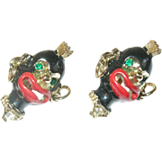 Vintage Earrings Whimsical