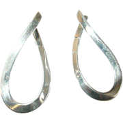 Vintage Earrings Sterling Modernist Design