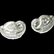 Vintage Earrings Sterling Lilies