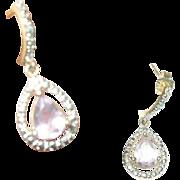 Vintage Drop Earrings Sterling Vermeil
