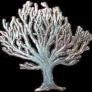 Vintage Brooch Sterling Tree Design