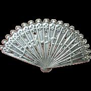 Vintage Brooch Sterling Fan Design by Lang