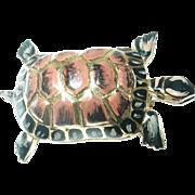 Vintage Turtle Brooch Enamel