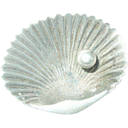Antique Sterling Brooch Seashell Design