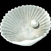 Antique Sterling Brooch Seashell Design