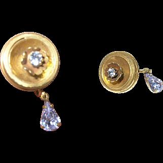 Vintage Gold Filled Tear Drop Earrings