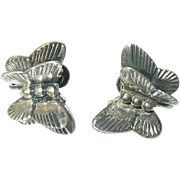Vintage Sterling Butterfly Earrings by Michele