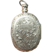 Antique Pendnt Sterling Scent Bottle Locket