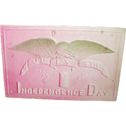 Vintage Post Card 4th of July Americana 3-D