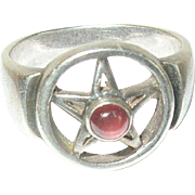 Vintage Ring Sterling Modernist Design