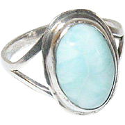 Vintage Ring Sterling Cabochon Stone