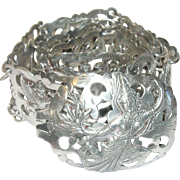 Vintage Siamese Sterling Silver Belt Open Work Links Goddes Elephants