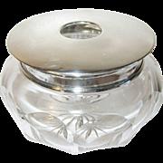 Vintage Sterling Crystal Vanity Jar Hallmarked