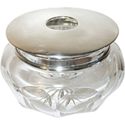 Vintage Sterling Crystal Vanity Jar Hallmarked
