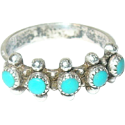 Vintage Ring Sterling Turquoise