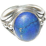 Vintage Ring Sterling Lapis by Zaccagni