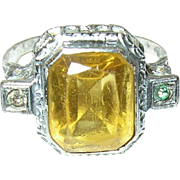 Vintage Sterling Ring Filigree Work