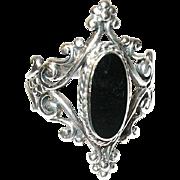 Vintage Ring Sterling Open Work