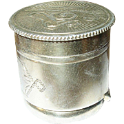 Victorian Sterling Vermeil Cane Top Box