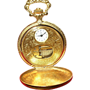 Vintage Reuge  Swiss Music Box Pocket Watch Gold Plated
