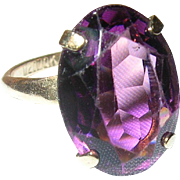 Vintage Gold Filled Ring Faux Amethyst