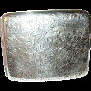 Vintage Sterling 950 Cigarette Case Chased Design