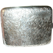 Vintage Sterling 950 Cigarette Case Chased Design