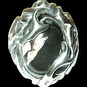Vintage Ring Sterling Modernist Design