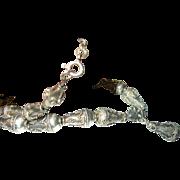 Vintage Sterling Bead Necklace Applied Design
