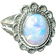 Vintage Ring Sterling Faux Opal