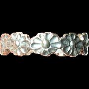 Vintage Ring Sterling Flower Band