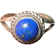 Vintage Ring Sterling Blue Lapis