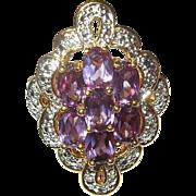 Vintage Ring Sterling Vermeil Modernist Design
