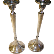 Antique Sterling Candlesticks Aesthetic Movement Oriental