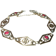 Vintage Sterling 14K Link Bracelet by Symmetalic